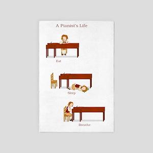 A Pianists Life 23x35 print 4' x 6' Rug
