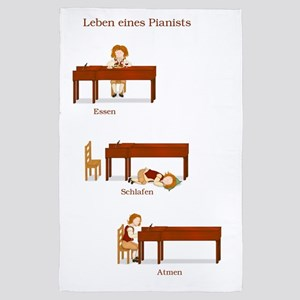 Leben eines Pianists 23x35 print 4' x 6' Rug