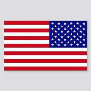 Reversed American Flag Sticker (Rectangle)