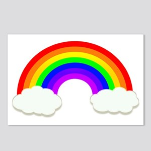 Rainbow in the clouds Postcards (Package of 8)