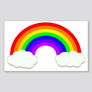 Rainbow in the clouds Sticker (Rectangle)