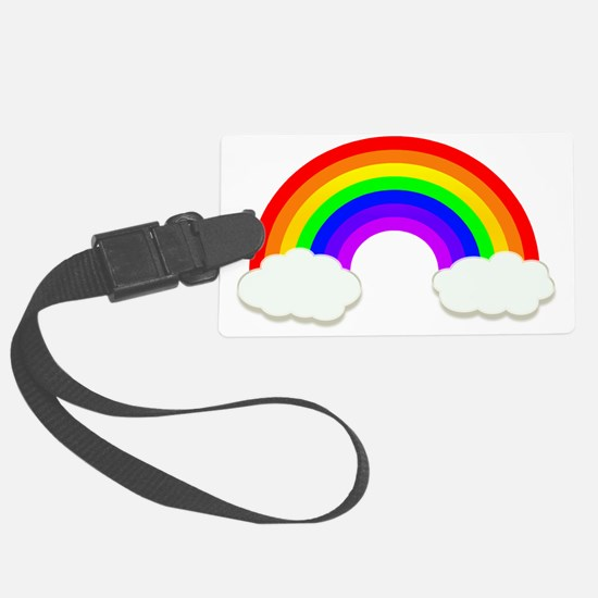 Rainbow in the clouds Luggage Tag