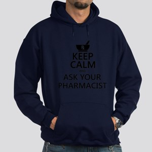 Keep Calm and Ask Your Pharmacist Hoodie (dark)