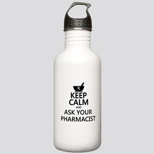 Keep Calm and Ask Your Stainless Water Bottle 1.0L