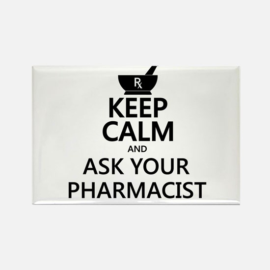 Keep Calm and Ask Your Pharmacist Rectangle Magnet