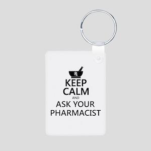 Keep Calm and Ask Your Pha Aluminum Photo Keychain