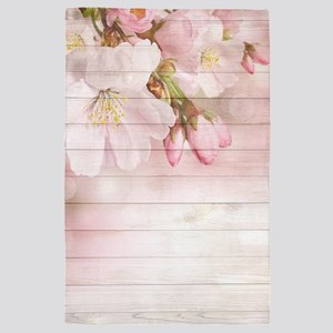 Romantic Vintage Shabby Chic Floral Wo 4' x 6' Rug