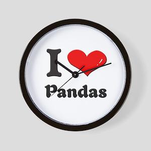 I love pandas  Wall Clock