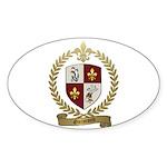 GUIMOND Family Crest Oval Sticker