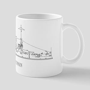 USS Wisconsin Mug