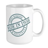 1938 birthday Large Mugs (15 oz)