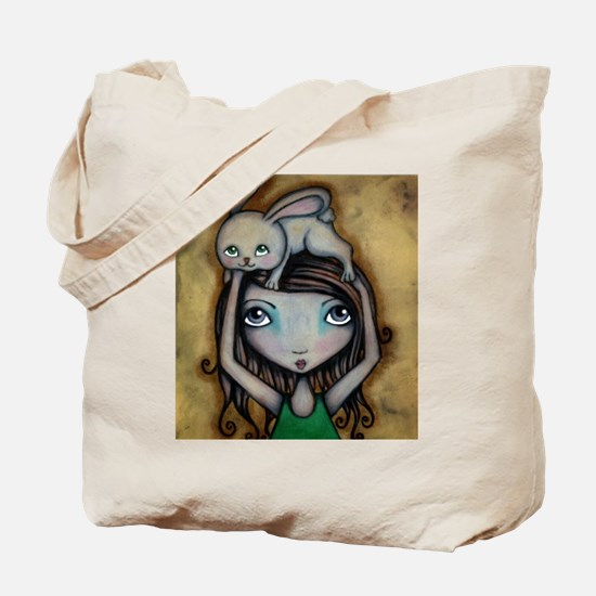 Bunny On My Head Tote Bag