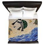 Kokopelli Turtle King Duvet