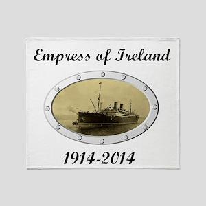 Empress of Ireland commemoration Throw Blanket