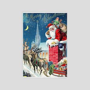 Vintage Santa Christmas 4' x 6' Rug