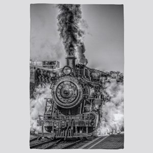 Vintage Steam Train 4' x 6' Rug