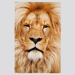 Lion Photograph 4' x 6' Rug