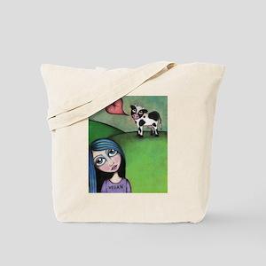 Vegan Girl Tote Bag