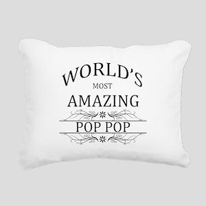 World's Most Amazing Pop Rectangular Canvas Pillow