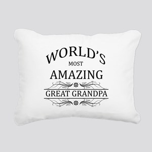 World's Most Amazing Gre Rectangular Canvas Pillow