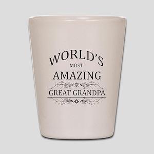 World's Most Amazing Great Grandpa Shot Glass