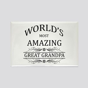World's Most Amazing Great Grandp Rectangle Magnet