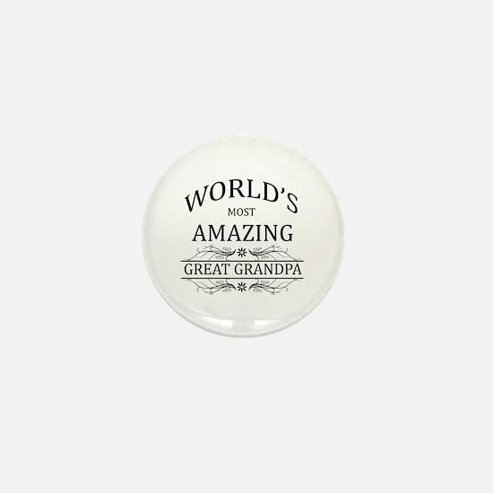 World's Most Amazing Great Grandpa Mini Button