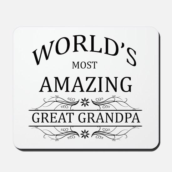 World's Most Amazing Great Grandpa Mousepad