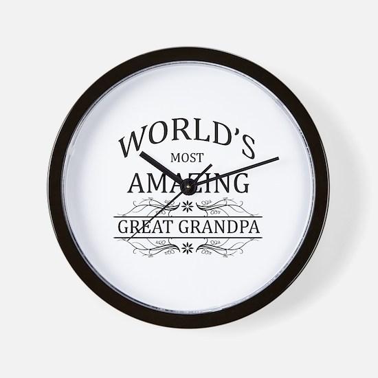 World's Most Amazing Great Grandpa Wall Clock