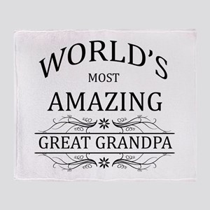 World's Most Amazing Great Grandpa Throw Blanket