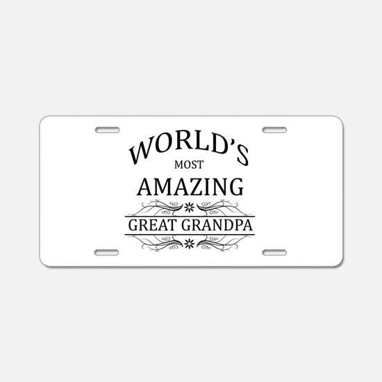World's Most Amazing Great Aluminum License Plate
