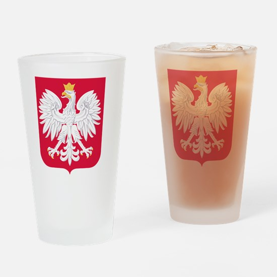 Polish Eagle Coat of Arms Drinking Glass