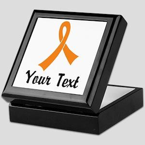 Personalized Orange Ribbon Awareness Keepsake Box