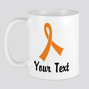 Personalized Orange Ribbon Awareness Mug