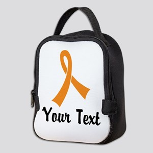 Personalized Orange Ribbon Awar Neoprene Lunch Bag