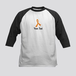 Personalized Orange Ribbon Aw Kids Baseball Jersey