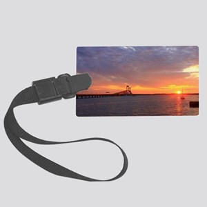 Newport Bridge Sunset Large Luggage Tag