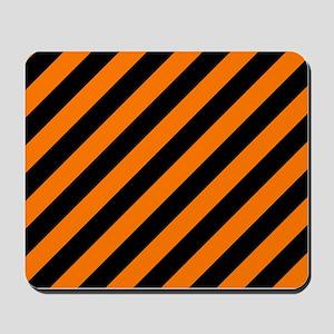 Orange and Black Stripes Mousepad