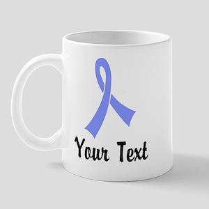 Personalized Periwinkle Ribbon Awarenes Mug