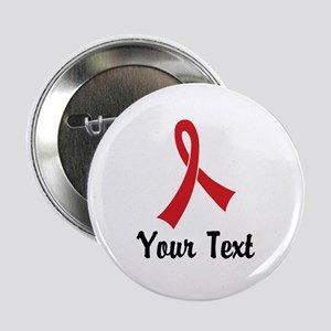"""Personalized Red Ribbon Awa 2.25"""" Button (10 pack)"""