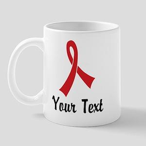 Personalized Red Ribbon Awareness Mug