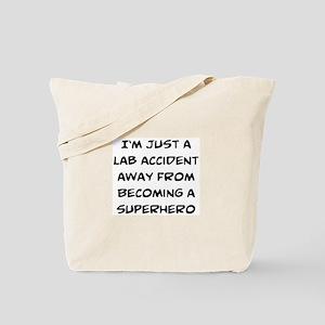 lab accident Tote Bag