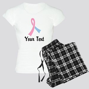 Personalized Pink and Blue Women's Light Pajamas