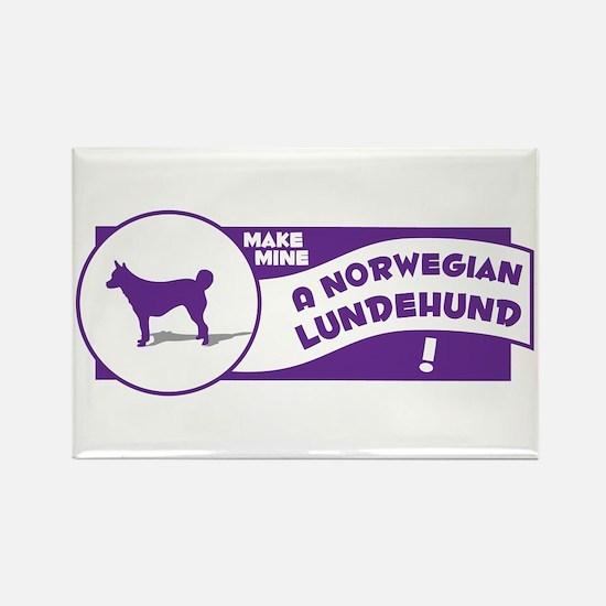Make Mine Lundehund Rectangle Magnet (10 pack)