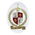 GUIMONT Family Crest Oval Ornament