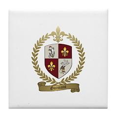 GUIMONT Family Crest Tile Coaster