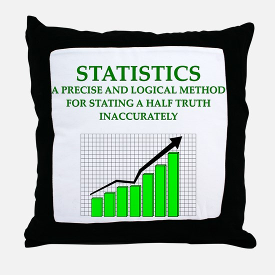 STATS Throw Pillow