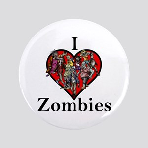 """I Love Zombies 3.5"""" Button"""