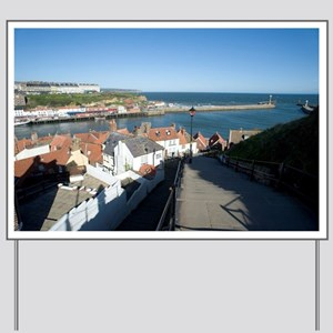 View from the 199 Church Steps in Whitby Yard Sign