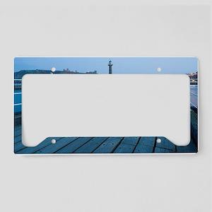 Breakwater navigation beacons License Plate Holder